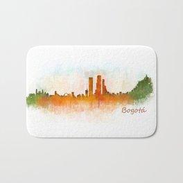 Bogota City Skyline Hq V3 Bath Mat