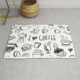 I Love Coffee Rug