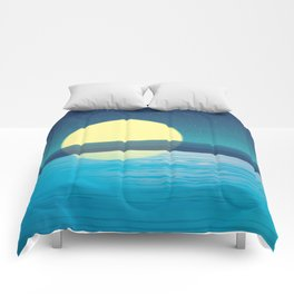 Night at the sea Comforters