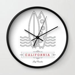 067 California Wall Clock