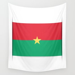 Flag of Burkina Faso. The slit in the paper with shadows. Wall Tapestry