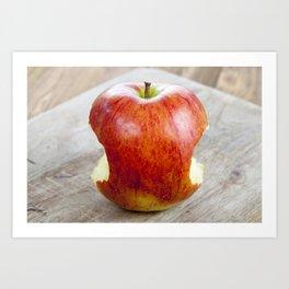 red juicy apple Art Print
