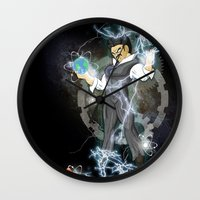 dbz Wall Clocks featuring DBZ Tesla Milky Way by Hushy