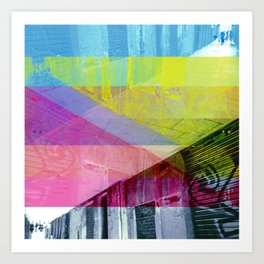 Proof of our steps as an accumulation through way? [CMYK] Art Print