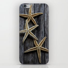 Starfishes in wooden iPhone Skin