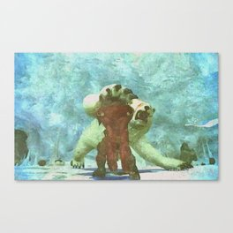 White bear attack Canvas Print