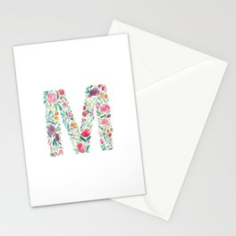 "Watercolor Alphabet ""M"" Stationery Cards"