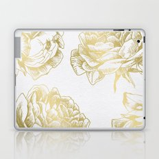 Gold Roses Laptop & iPad Skin