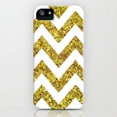 GOLD GLITTER CHEVRON Slim Case iPhone (5, 5s)
