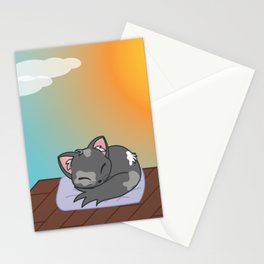 Cat on a roof Stationery Cards