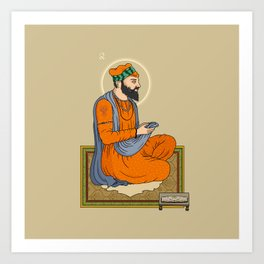 Sri Guru Angad Dev Ji Art Print