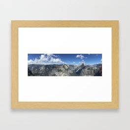 Panoramic Glacier Point Horizon in Yosemite Valley National Park Framed Art Print
