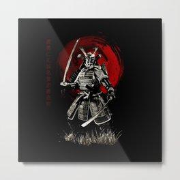 Bushido Samurai Metal Print