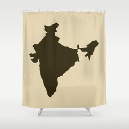 Chocolate Spice Moods India Shower Curtain