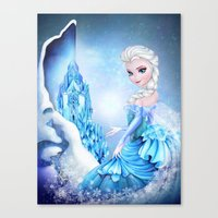 elsa Canvas Prints featuring ELSA by Annya Kai