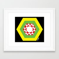 tour de france Framed Art Prints featuring Tour de France Jerseys by Pedlin
