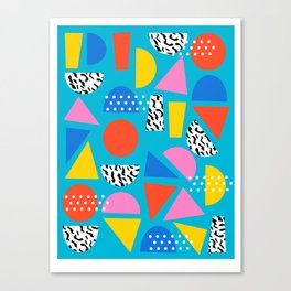 Airhead - memphis retro throwback minimal geometric colorful pattern 80s style 1980's Canvas Print