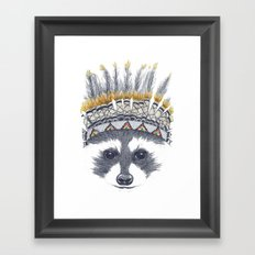 Festivale Raccoon Framed Art Print