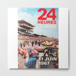 Le Mans 1967, 24hs Le Mans, 1967, original vintage poster Metal Print