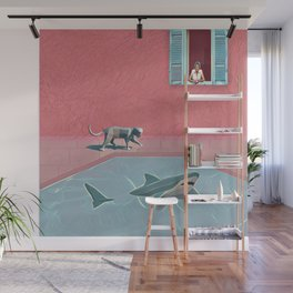 Shark and Kitty Wall Mural