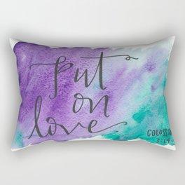 Put On Love Rectangular Pillow