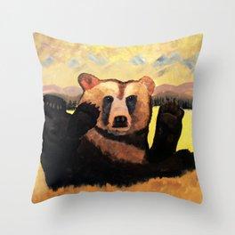 """Yellowstone Moonlight""  Throw Pillow"