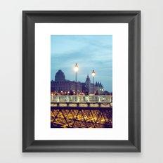 Paris at Night: Pont Neuf Framed Art Print