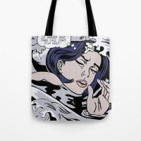 lichtenstein Tote Bags featuring Roy Lichtenstein by Ella Elimelech