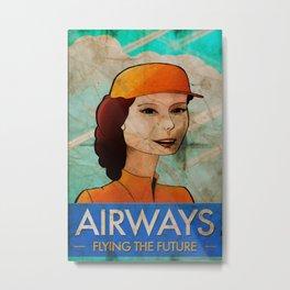 Stewardess II Metal Print