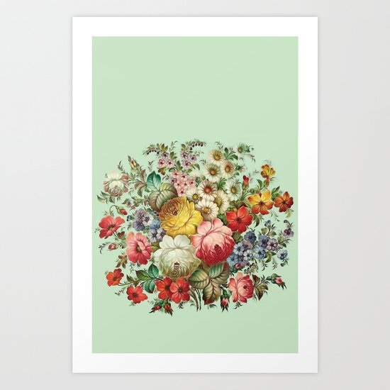 Russian Flowers Art Print
