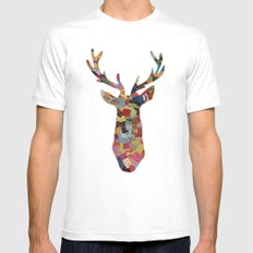The Stag Mens Fitted Tee White MEDIUM