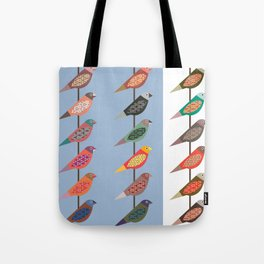 Fun Finches Tote Bag