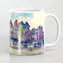 Nottingham panorama city watercolor Coffee Mug