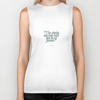 harry potter Biker Tanks featuring Harry Potter Quote #2 by Marcela Caraballo