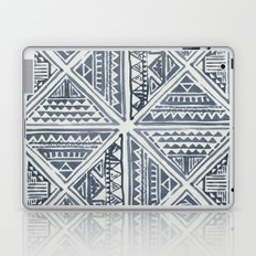 Simply Tribal Tile in Indigo Blue on Lunar Gray Laptop & iPad Skin