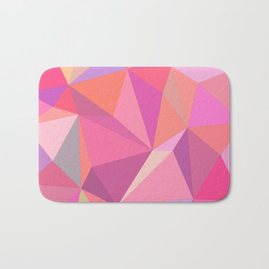 Triangle abstract Bath Mat