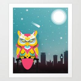 Nairobian Owl Art Print