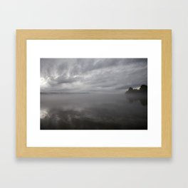 Stormy Skies over Cayuga Framed Art Print