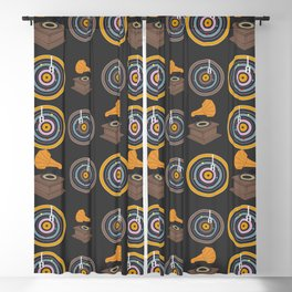 Gramophone and vinyls Blackout Curtain