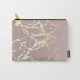 Kintsugi Ceramic Gold on Clay Pink Carry-All Pouch