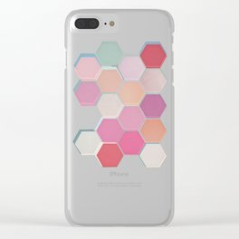 Layered Honeycomb 003 Clear iPhone Case