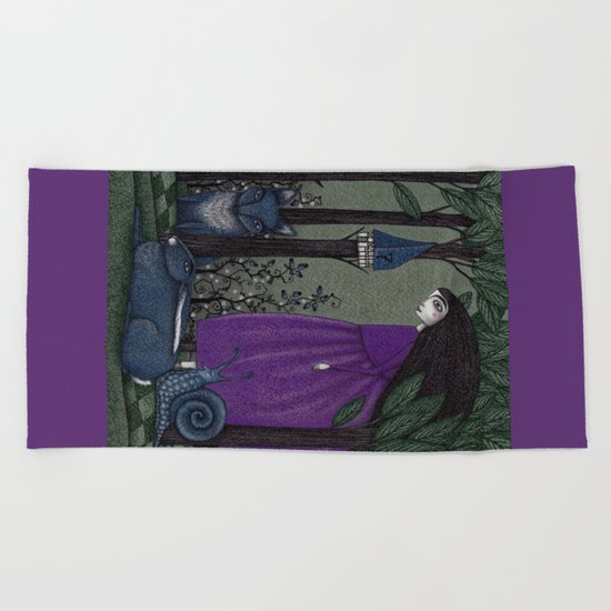 There is a Place in the Woods... Beach Towel