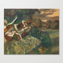 Edgar Degas - Four Dancers, 1889 Canvas Print