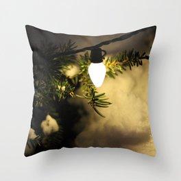 Light and Snow Throw Pillow