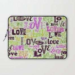 Vintage Love Words Laptop Sleeve