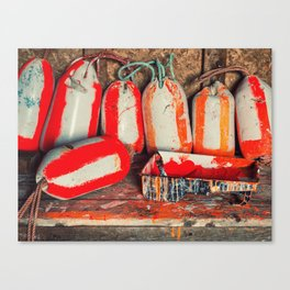 Buoy Painting Workbench Canvas Print