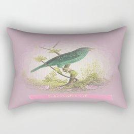 Songbird {dusky lilac} Rectangular Pillow