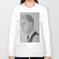 leonardo dicaprio Long Sleeve T-shirts featuring Jay Gatsby - Leonardo DiCaprio by Moira Sweeney