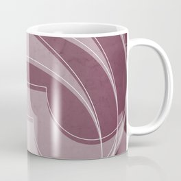 Spacial Orbiting Spiral in Mulberry Coffee Mug