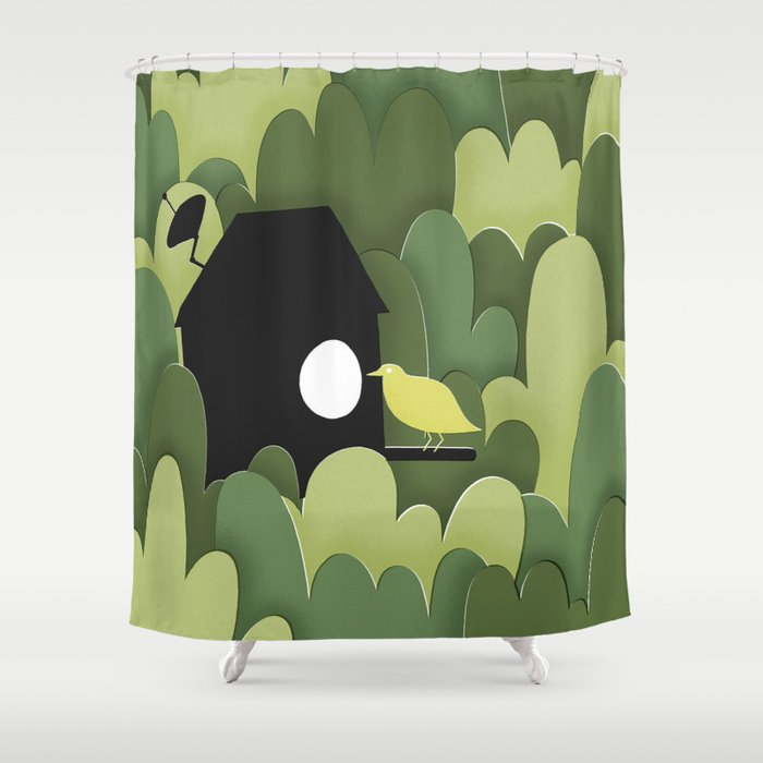 Birdhouse Shower Curtain By Davidpenela